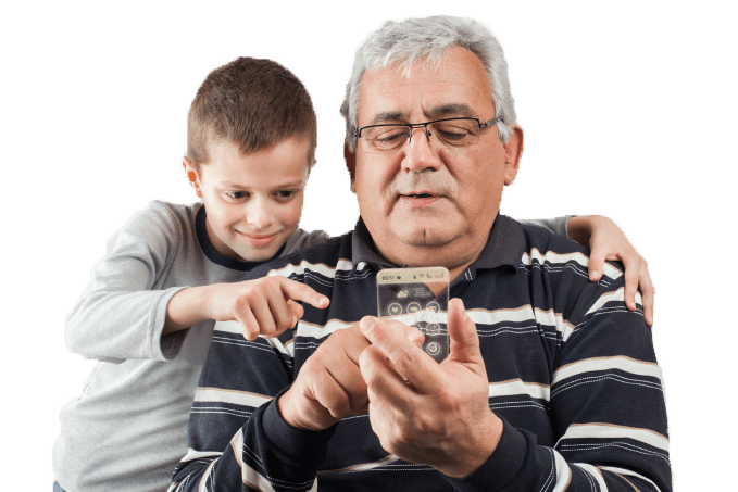Transparent-Grandfather-and-son-with-phone-iStock_000035498332Large